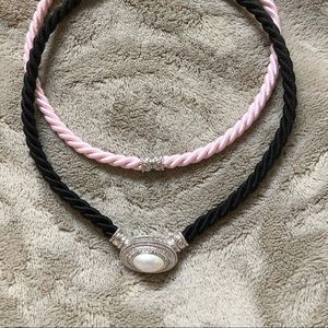 Judith Ripka Sterling Pearl Enhancer and Cords